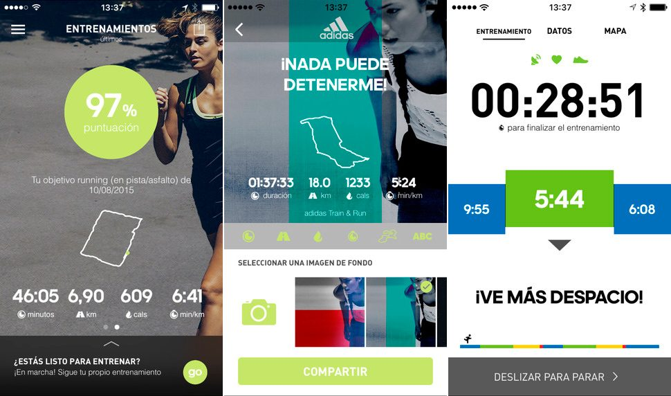 Adidas Train & Run para iPhone y iPad