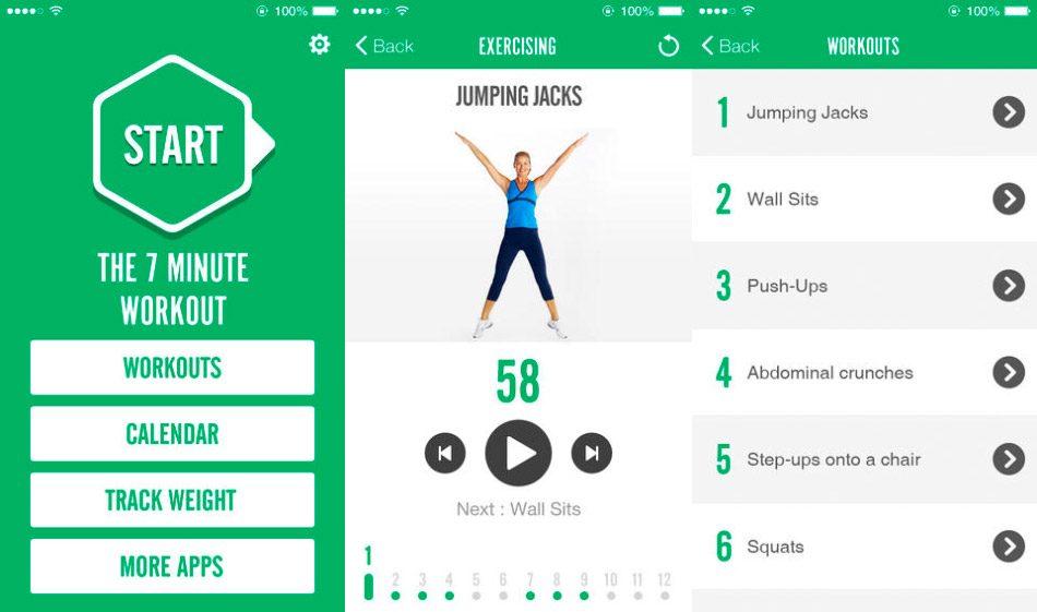 Aplicación para hacer musculación 7 Minutos Reto