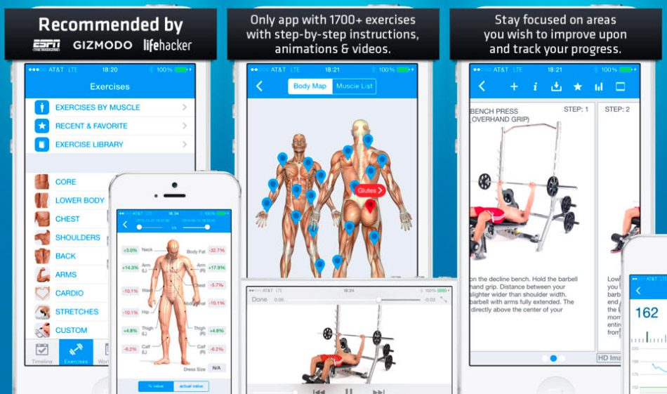 Aplicación para hacer musculación Fitness Buddy