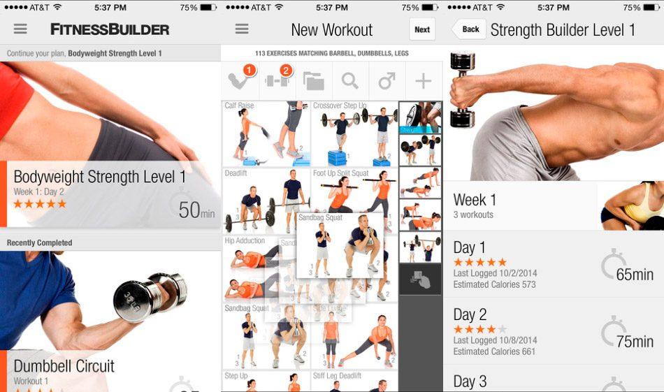 Aplicaci n para hacer musculaci n fitness builder im genes y fotos - Plan de entrenamiento en casa ...