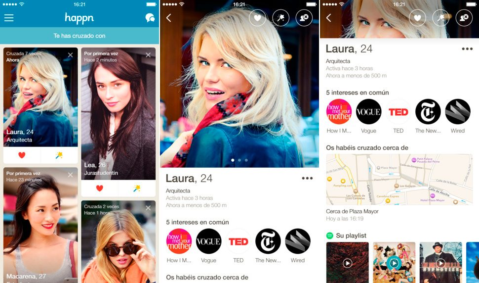 Happn en iPhone y iPad