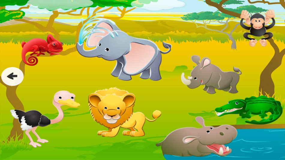 juego ipad animales del safari