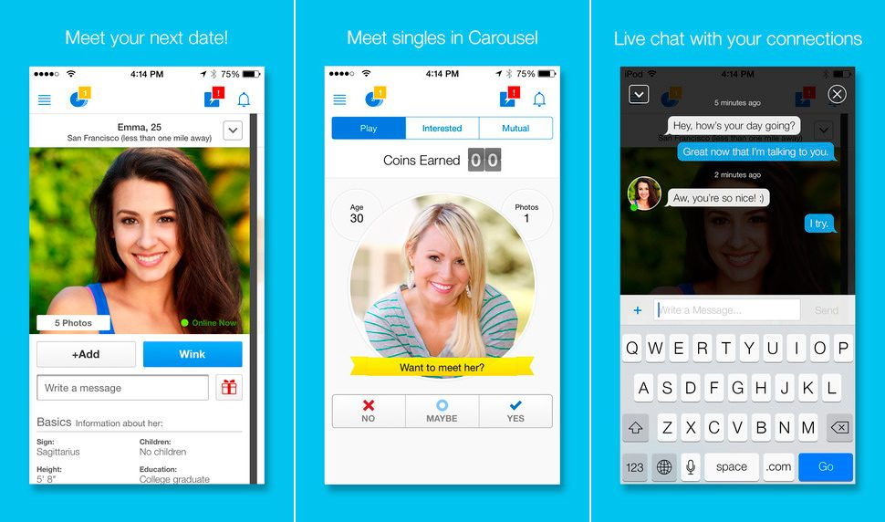 Zoosk en iPhone y iPad