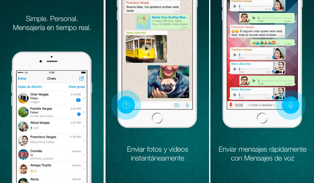 Aplicaciones para iPhone 7: Whatsapp