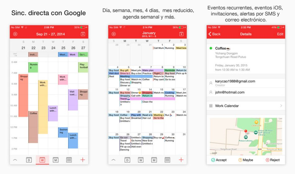 Calendario para iPhone y iPad CalenMob