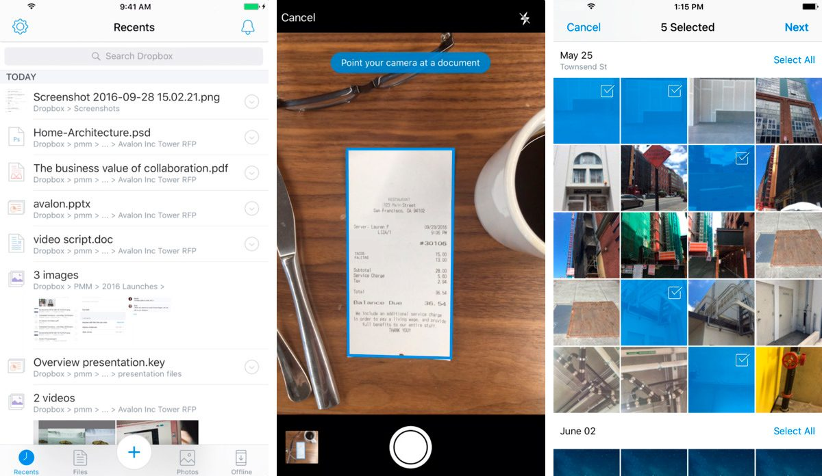 Dropbox para iPhone 6 Plus