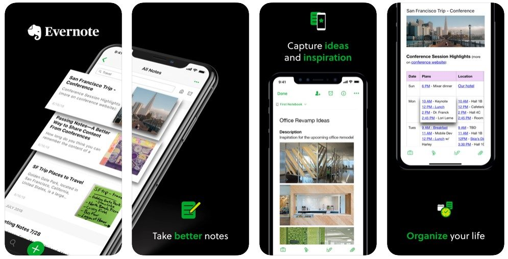 Evernote para iPhone y iPad