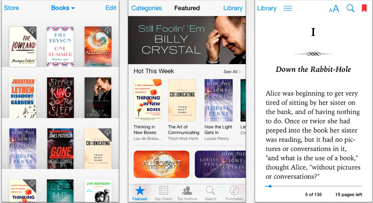 iBooks en iPhone y iPad