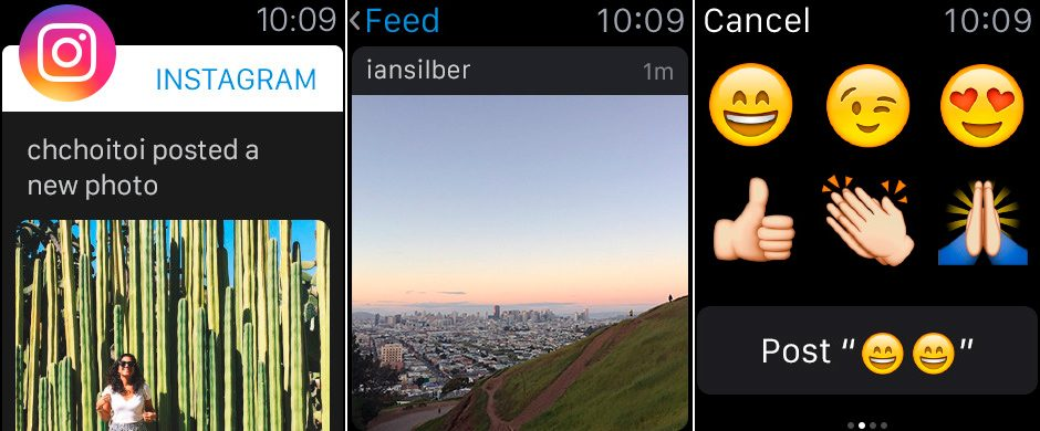 Instagram para Apple Watch