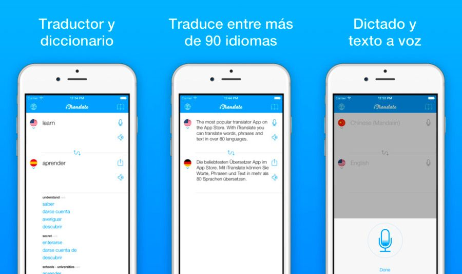 iTranslate, app de inglés para iPhone