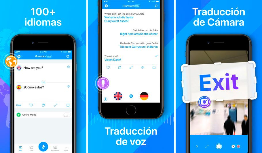 iTranslate para iPhone y iPad