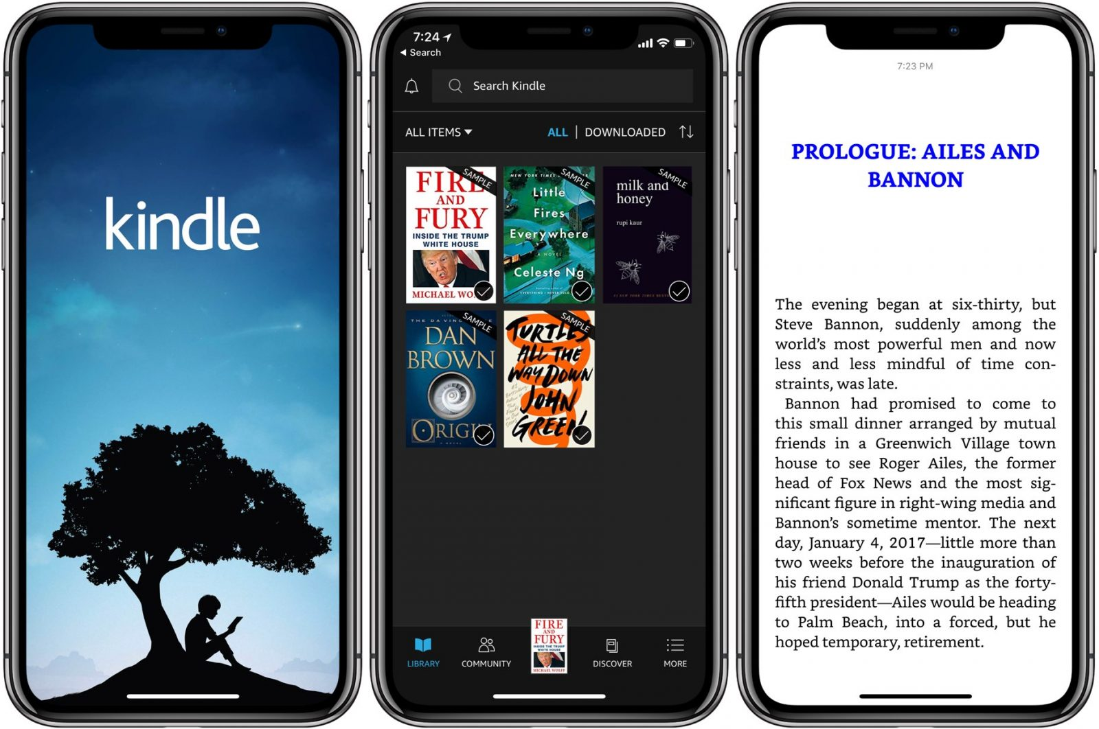 Kindle en iTunes