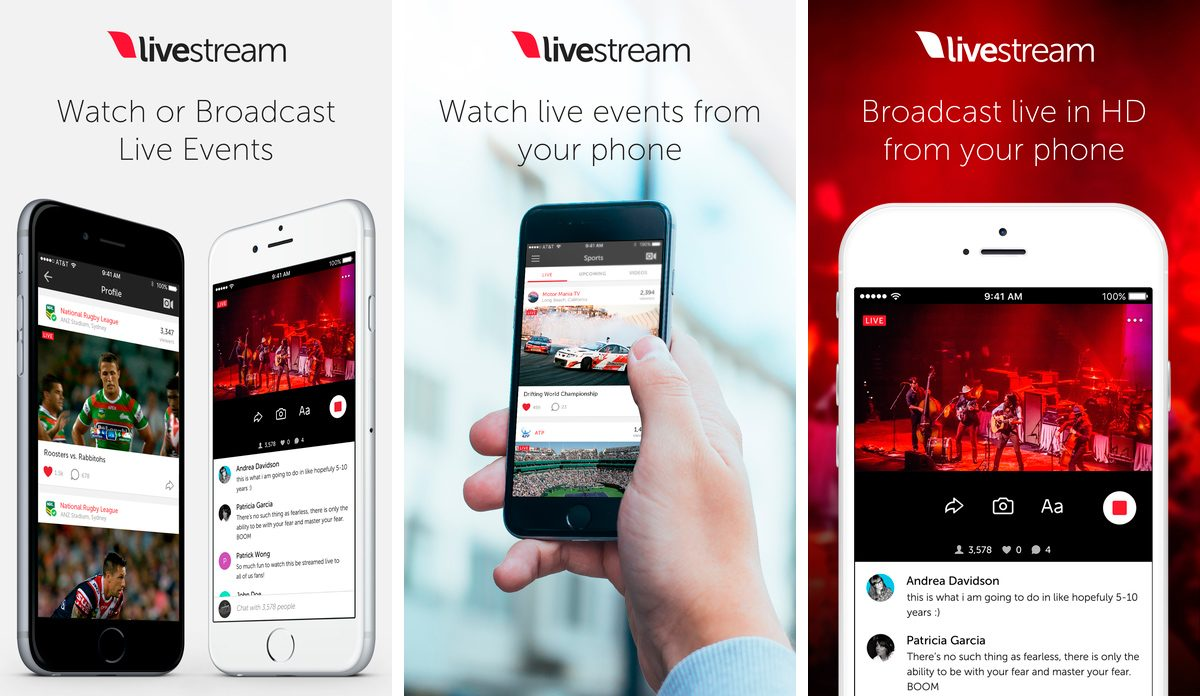 Livestream en iPhone y iPad