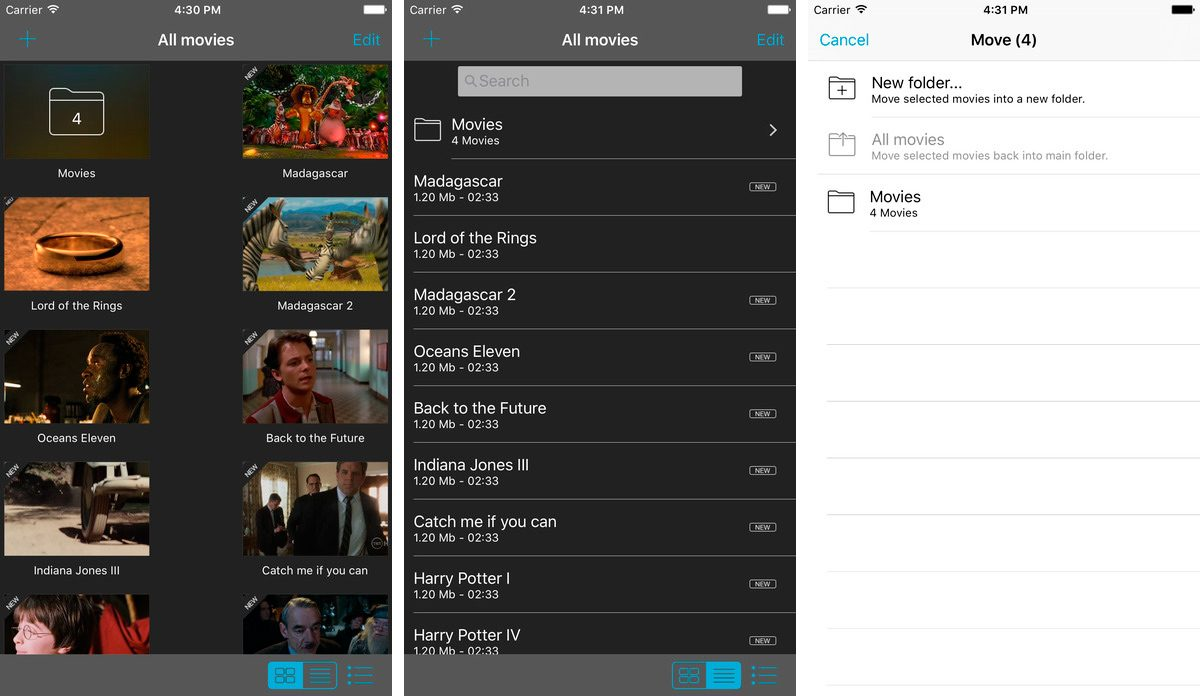 Movie Player para iPhone y iPad