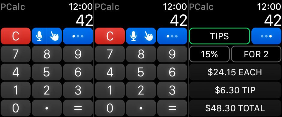 PCalc para Apple Watch