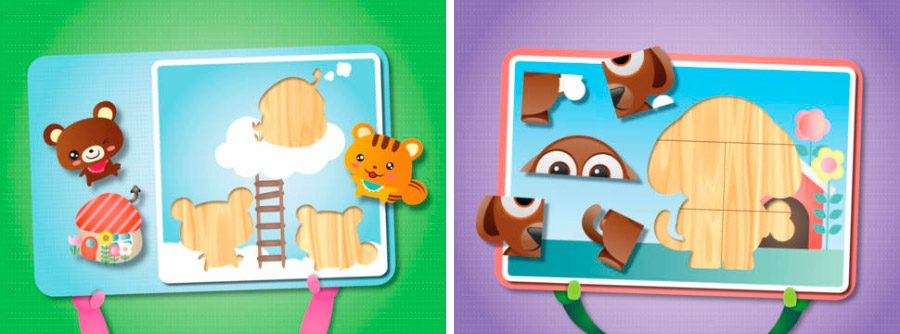 Puzzles para niños en iPhone y iPad
