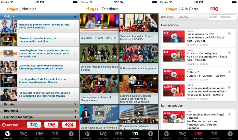 RTVE.es en iPhone y iPad