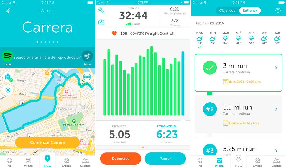 Runkeeper para iPhone y iPad