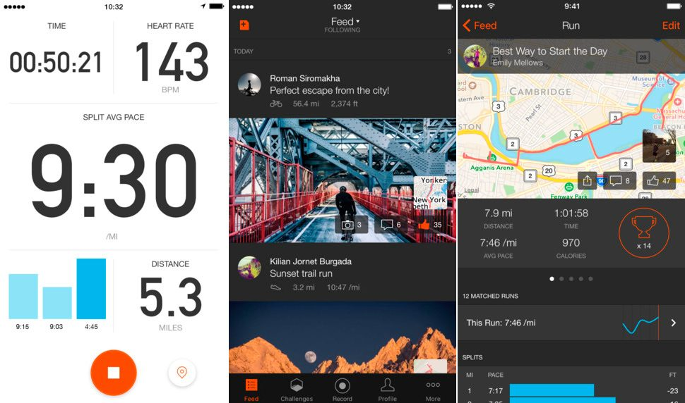 Strava para iPhone y iPad