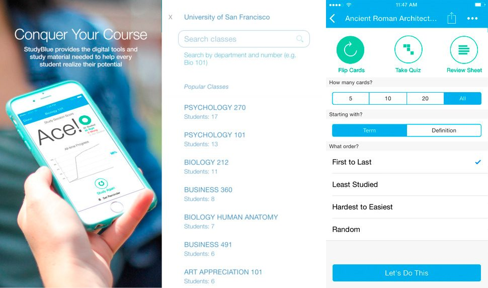 STUDYBLUE para iPhone y iPad