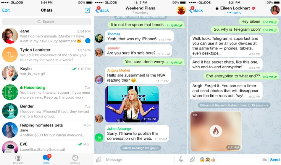 Telegram en iPhone y iPad