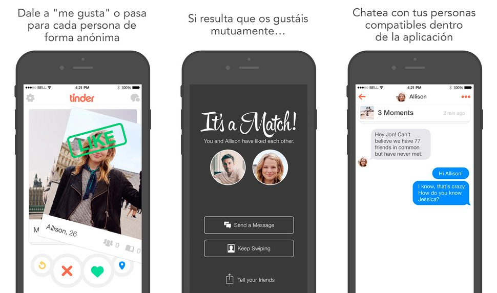 Tinder en iPhone y iPad