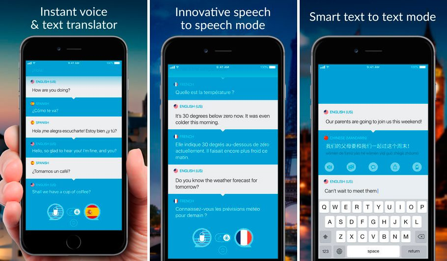 Translate voice para iPhone y iPad