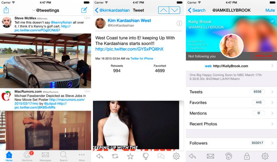 Tweetings, top de apps para Twitter en iPhone/iPad