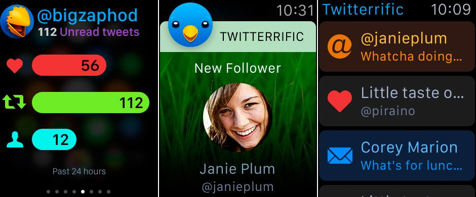 Twitterrific para Apple Watch