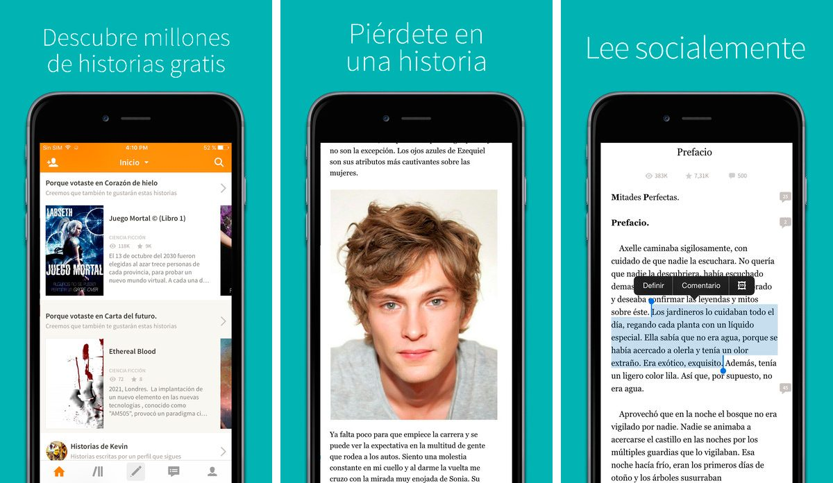 Wattpad en iPhone y iPad
