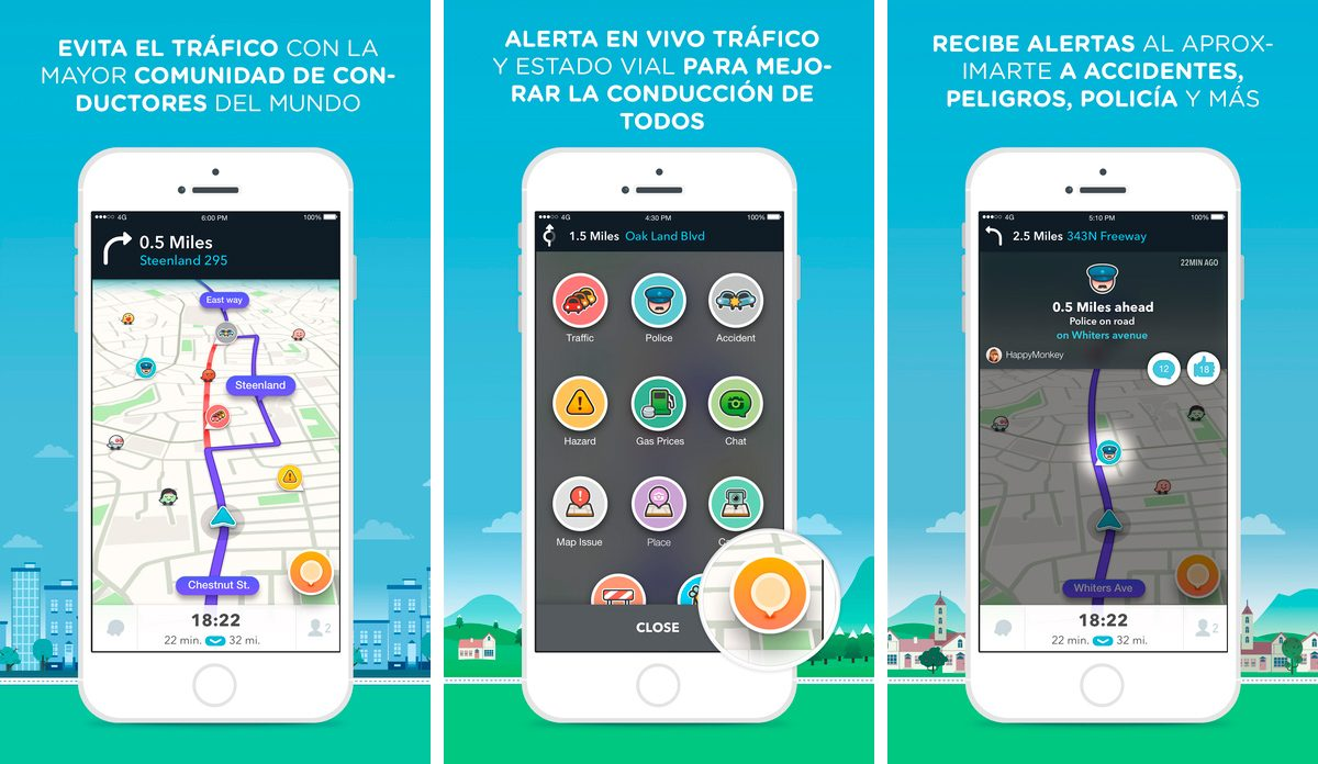 Waze para iPhone 6 Plus