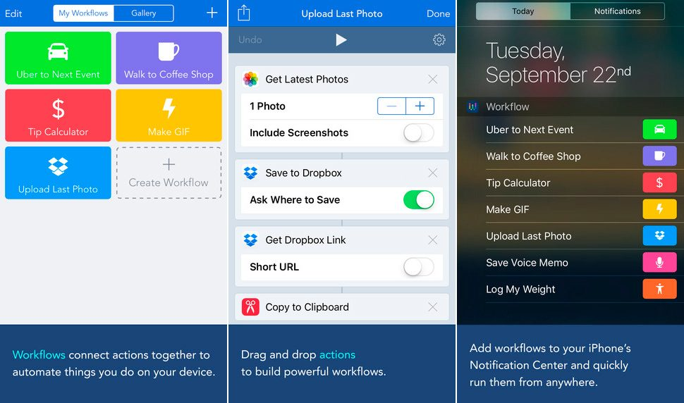 Workflow para iphone 6